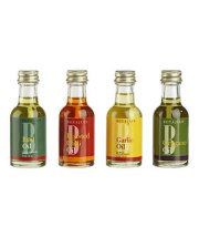 Flavored Oils Set of FourKick up your culinary creations with these gourmet oils. Infused with basil, chilis, garlic, and oregano, a little goes a long way.To buy: $9, crateandbarrel.com.