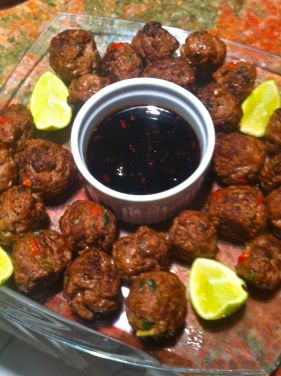 asian infused meatballs