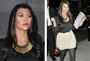 Kourtney Kardashian seen wearing Stella & Dot Pegasus Necklace
