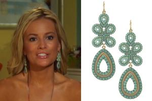 'Bachelorette' Emily Maynard seen wearing S&D 'Capri Chandelier Earrings'